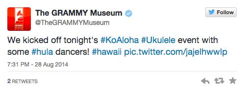Grammy Museum Tweet
